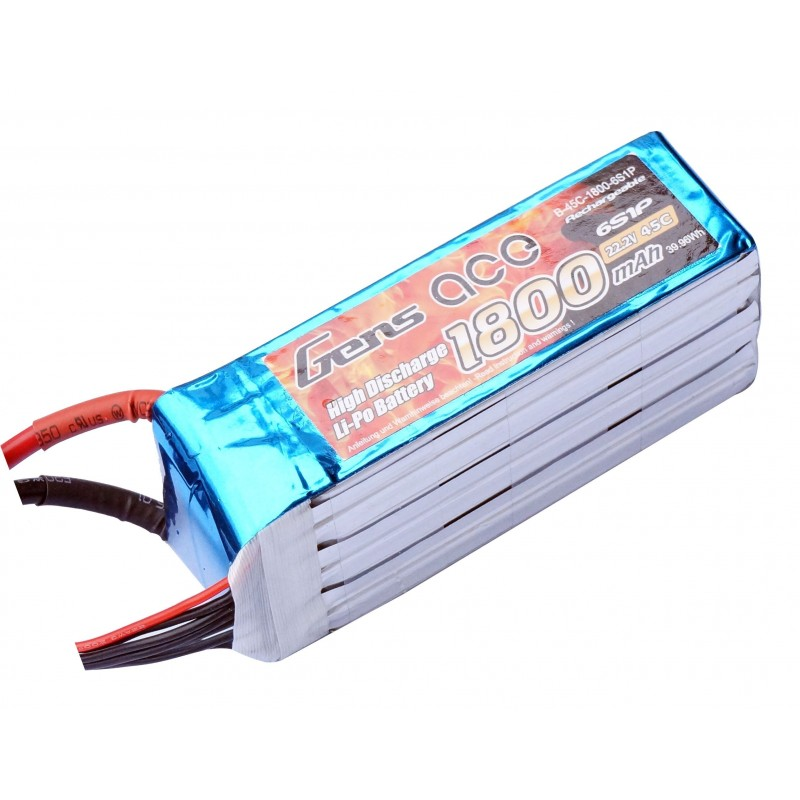 Gens ace 1800mAh 6S 45C Lipo Battery Pack