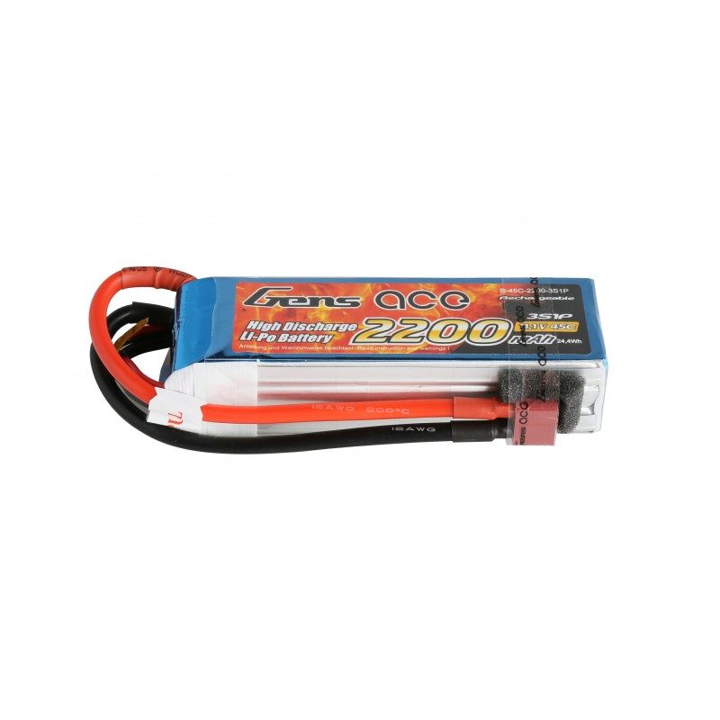 Gens ace 2200mAh 3S 45C Lipo battery