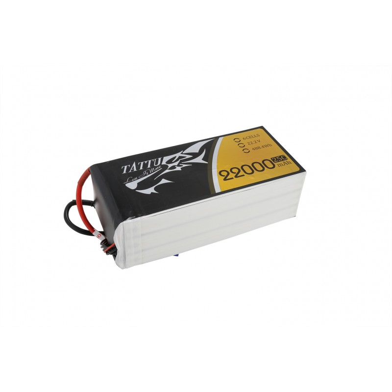 Tattu 22000mAh 6S 22.2V 25C LiPO battery