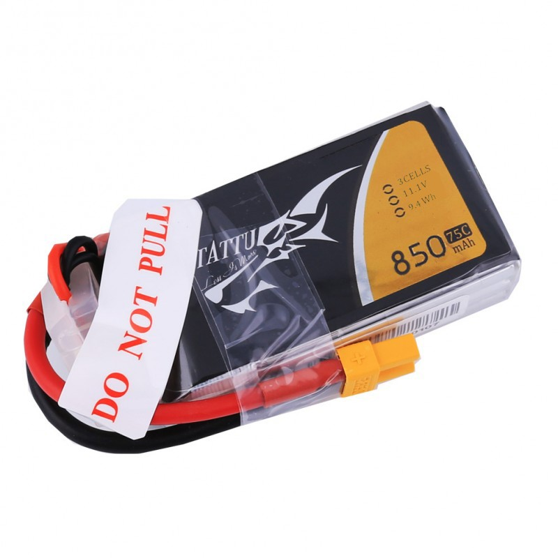 Tattu 850mAh 3S 75C Lipo battery