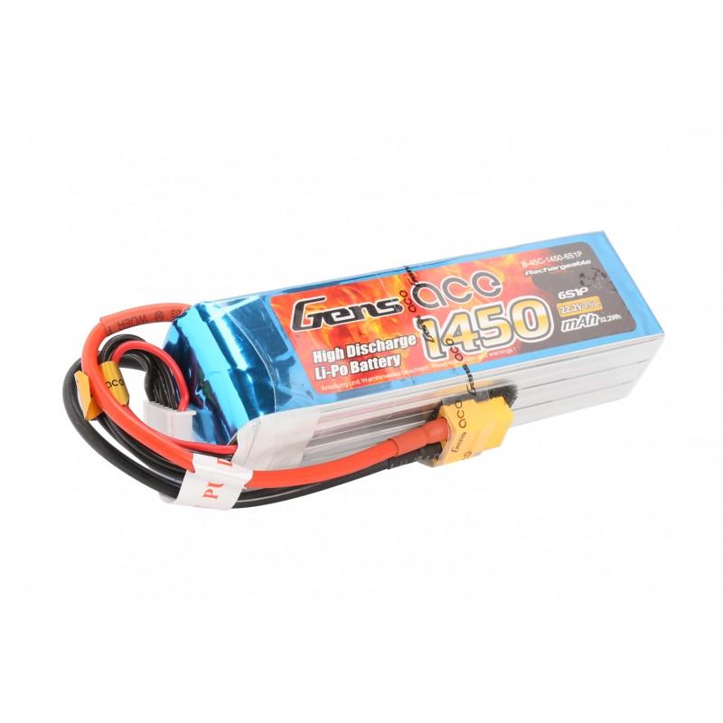 Gens Ace 1450mAh 6S 45C Lipo Battery
