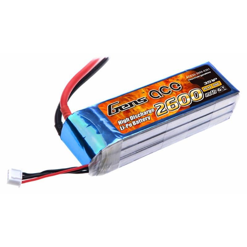 Gens ace 2600mAh 3S 25C Lipo battery
