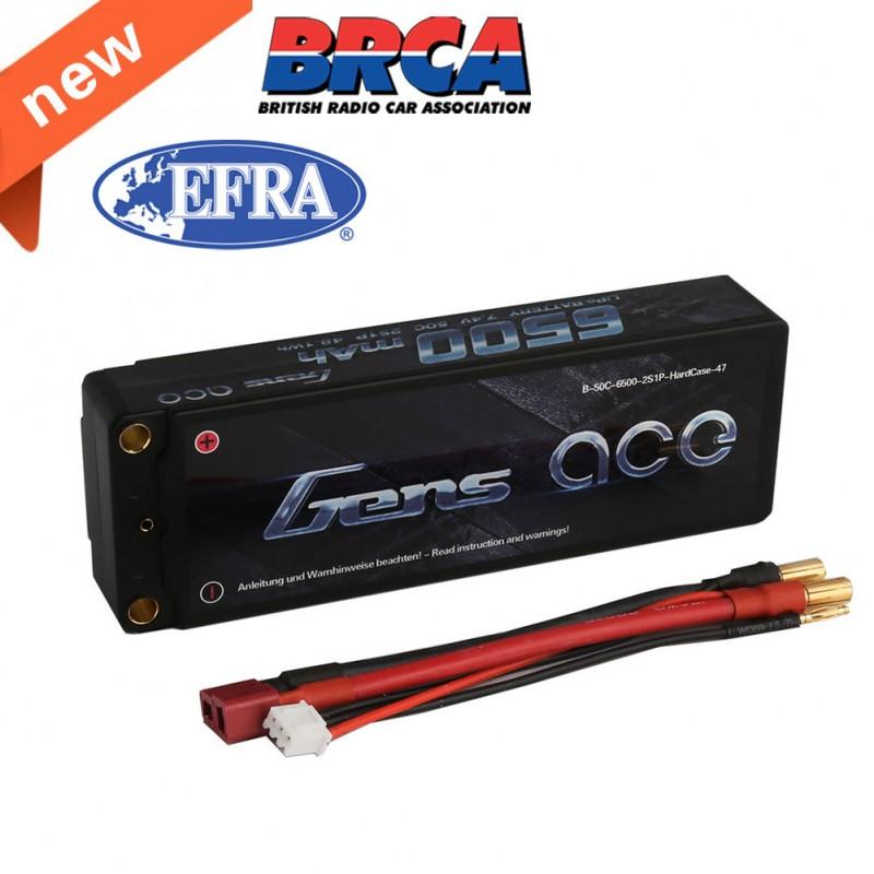Gens ace 6500mAh 2S 50C Lipo battery