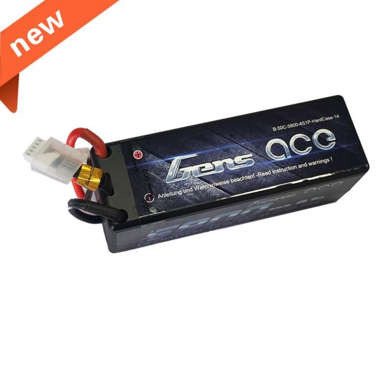 Gens ace 5800mAh 14.8V 50C 4S1P HardCase Lipo Battery