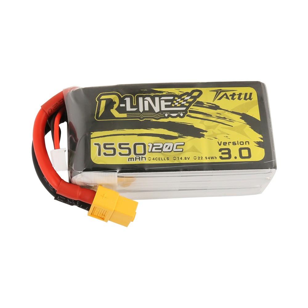 Tattu 1550mAh 3S 45C Lipo Battery Pack with XT60 plug