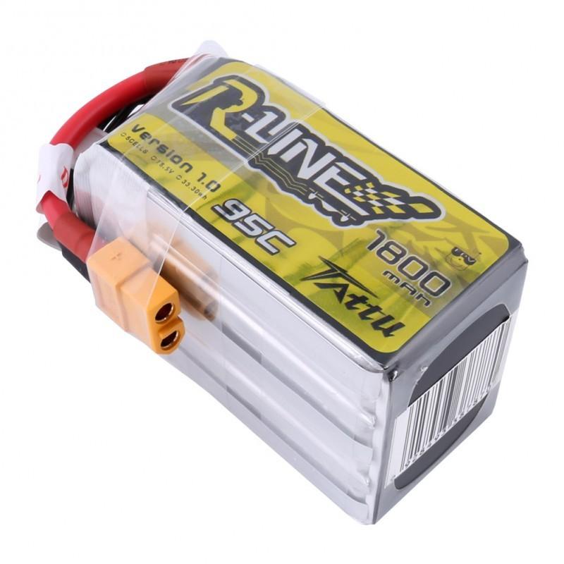 Tattu R-Line 1800mAh 95C 5S1P Lipo Battery Pack with XT60 plug