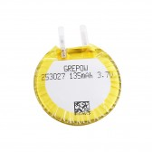 Grepow 135mAh 3.7V Round Shaped Lipo Battery 2530027