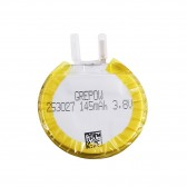 Grepow 145mAh 3.8V Round Shaped Lipo Battery 2530027
