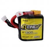 Tattu R-Line 1300mAh 95C 4S1P Square Lipo Battery Pack