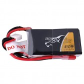 Tattu 450mAh 3S1P 45C 11.1V Lipo Battery Pack With JST-SYP