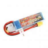 Gens ace 1800mAh 7.4V 45C 2S1P Lipo Battery Pack with XT60 Plug