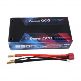 Gens ace 5500mAh 7.6V High Voltage100C 2S2P Shorty Lipo29# pack with 4.0mm Banana toTplug