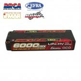 Gens ace Redline Series 6000mAh 7.6V 130C 2S2P HardCase 57# HV Lipo Battery