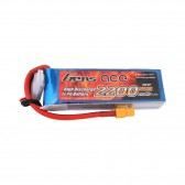 TATTU 1550mAh 14.8V 75C 4S1P Lipo Battery Pack with Detachable Balance Cable