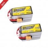 2XTattu R-Line 1550mAh 95C 6S1P Lipo Battery Pack with XT60 plug for FPV Racing