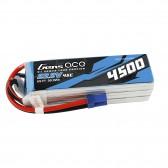 Gens ace 4500mAh 22.2V 45C 6S1P Lipo Battery Pack for Goblin 500