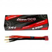 Gens ace 5300mAh 2S 7.4V 60C HardCase RC 10# car Lipo battery pack with T-plug
