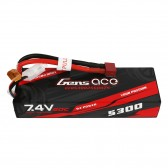 Gens ace 5300mAh 7.4V 2S1P 60C car Lipo Battery Pack Hardcase 24# with T Plug