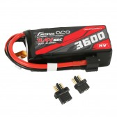 Gens ace 3600mAh 11.4V 3S1P 60C High Voltage Lipo Battery Pack with XT60/T-plug