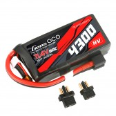 Gens ace 4300mAh 3S1P 11.4V 60C Lipo Battery with XT60/T-plug