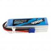 Gens ace 4000mAh 22.2V 60C 6S1P Lipo Battery Pack with EC5 Plug