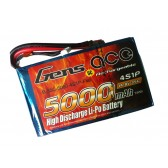 Gens ace 5000mAh 14.8V 35C 4S1P Flat Pack --Multirotors
