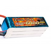 Gens ace 6S 6000mAh 22.2V 45C Lipo Battery with EC5 Plug
