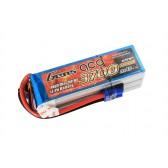 Gens ace 3700mAh 22.2V 60C 6S1P Lipo Battery Pack with EC5 Plug