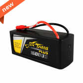 Tattu Plus 16000mAh 22.2V 15C 6S1P Lipo Battery Pack with AS150+XT150 plug