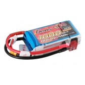 Gens ace 1000mAh 3S1P 11.1V 25C Lipo Battery Pack with T-plug