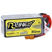 Tattu R-Line 4S 1300mah 95c Lipo Battery Pack with XT60 Plug