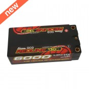 Gens ace Redline Series 6000mAh 7.6V 130C 2S2P HardCase HV Shorty Lipo Battery