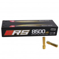 Gens ace 8500mAh 7.6V High Voltage 120C 2S1P Series Black HardCase Lipo10# with 4.0 mm Banana