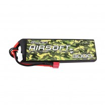 Gens ace 25/50C 3000mAh 3S1P 11.1V Airsoft Gun Lipo Battery with T Plug