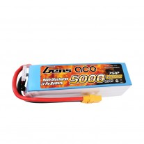 Gens ace 5000mAh 25.9V 45C 7S1P Lipo Battery Pack with XT90