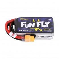 Tattu Funfly Series 1300mAh 14.8V 100C 4S1P Lipo Battery Pack with XT60 plug