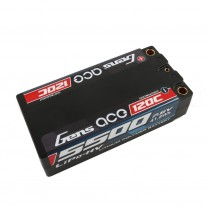 Gens ace 5500mAh 7.6V High Voltage 120C 2S2P Racing Series Shorty Black HardCase Lipo65#