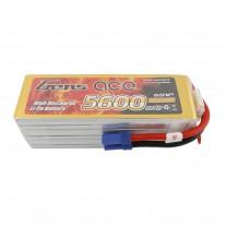 Gens ace 5600mAh 80C 22.2V 6S1P Lipo Battery Pack with EC5 plug