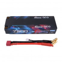 Gens ace 7500mAh 7.6V High Voltage100C 2S1P Series with Black HardCase Lipo47# pack with 5.0 mm Banana to T+XHR