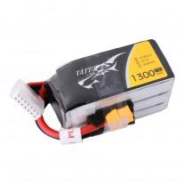 Tattu 1300mAh 22.2V 75C 6S1P Lipo Battery Pack with XT60