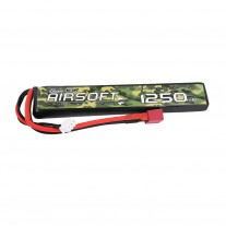 Gens ace 25/50C 1250mAh 2S1P 7.4V Airsoft Gun Lipo Battery with T Plug