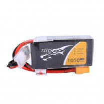 Tattu 1050mAh 14.8V 75C 4S1P Lipo Battery Pack with XT60