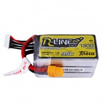 Tattu R-Line 1300mAh 95C 6S1P lipo battery pack with XT60 Plug