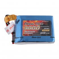 Gens ace 3800mAh 7.4V 2S1P TX Lipo Battery Pack with JST-SYP Plug