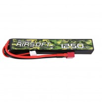 Gens ace 25/50C 1250mAh 3S1P 11.1V Airsoft Gun Lipo Battery with T Plug