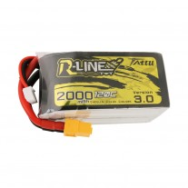 Tattu R-Line Version 3.0 2000mAh 14.8V 120C 4S1P Lipo Battery Pack with XT60 Plug