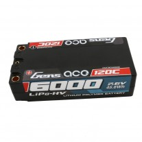 Gens ace 6000mAh 7.6V High Voltage120C 2S2P Shorty Lipo65#