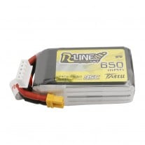 Tattu R-Line 650mAh 14.8V 4S1P 95C Lipo Battery