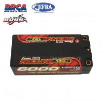 Gens ace Redline Series 6000mAh 7.6V 130C 2S2P HardCase 65# HV Shorty Lipo Battery