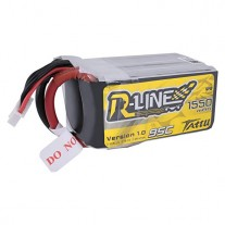 Tattu R-Line 1550mAh 95C 5S1P lipo battery pack with XT60 plug